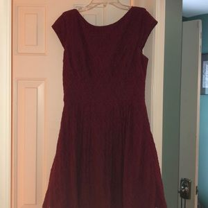 B Darlin Red Lace formal dress